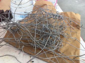 All the wire leftover after taking apart one of my wired sculptural figures
